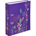 Папка с арочн.мех Flowers 75мм ламинир картон фиолетовый