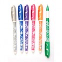 """Ручка гелевая Beifa GA316000GH """"Листья"""" 0.5мм ассорти/синий ст."""