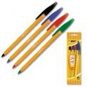 """Ручка шариковая """"BIC""""ORANGE набор, 4цв. ассорти 8308541Франция"""