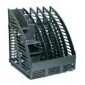 Вертикальный накопитель 4 отдел. по 40мм+органайзер черный '4C144