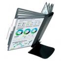 Демо-система MEGA Office FDS016 настольная метал. основа, 10 пан., черный