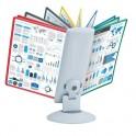 Демо-система MEGA Office FDS031 настольная вращ. 10 пан. св.сер/ассорти