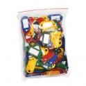 Бирка для ключей пластиковая, ассорти, 100шт./уп.