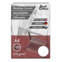 Обложки для переплета картонные ProfiOffice 100шт./уп. белые Кожа