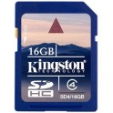 Карта памяти Kingston SDHC 16GB Class 4(SD4/16GB)