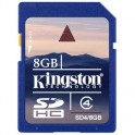 Карта памяти Kingston SDHC 8GB Class 4(SD4/8GB)