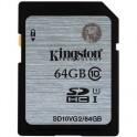 Карта памяти Kingston SDXC 64 Гб Class 10 UHS-I (SD10VG2/64 Гб)