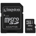 Карта памяти Kingston microSDHC 32GB Class 4(SDC4/32GB)