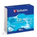 Носители информации Verbatim CD-R 700Mb 52x Slim/10 43415 Extra Protect