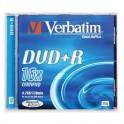 Носители информации Verbatim DVD+R 4,7Gb 16х Jewel/1 43496