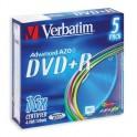 Носители информации Verbatim DVD+R 4,7Gb 16х Slim/5 43556 Color