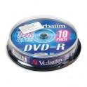 Носители информации Verbatim DVD-R 4,7Gb 16х Cake/10 43523