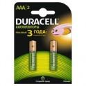 Аккумулятор DURACELL AAA/HR03-2BL 750mAh бл/2