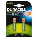 Аккумулятор DURACELL AAA/HR03-2BL 800/850mAh бл/2