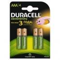 Аккумулятор DURACELL AAA/HR03-4BL 750mAh бл/4
