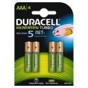 Аккумулятор DURACELL AAA/HR03-4BL 850mAh бл/4