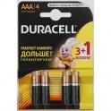 Батарея DURACELL AAA/LR03 BASIC 3шт+1 бесплатно бл/4