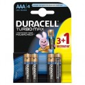 Батарея DURACELL ААA/LR03-4BL TURBO Max 3шт+1 бесплатно бл/4