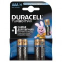 Батарея DURACELL ААA/LR03-4BL TURBO Max бл/4