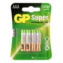 Батарея GP Super AAA/LR03/24A алкалин., бл/4