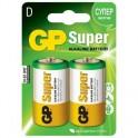Батарея GP Super D/LR20/13A алкалин. бл/2