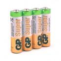 Батарея GP Super эконом уп.AA/LR6/15A алкалин. 4шт/уп GP15ARS-2SB4
