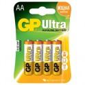 Батарея GP Ultra AA/LR6/15AU алкалин. бл/4 GP15AU-2CR4