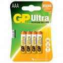 Батарея GP Ultra AAA/LR03/24A алкалин., бл/4 GP24AU-2CR4