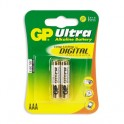 Батарея GP Ultra AAA/LR03/24AU алкалин. бл/2