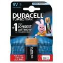 Элементы питания DURACELL TurboMax Батарейка 9V 6LR61 1шт