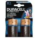 Элементы питания DURACELL TurboMax Батарейка D 1.5V LR20 2шт