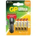 Элементы питания GP AAA, Ultra 8 шт/бл. + фонарик GPAC24AU3M