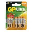 Элементы питания GP Ultra AAА, 6 шт/бл. GPPCA24AU019