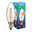 Лампа светодиодная СТАРТ с прозр.колбой(свеча),мощн.4W,цоколь Е14
