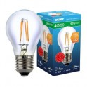Лампа светодиодная СТАРТ с прозр.колбой(станд),мощн.4W,цоколь Е27