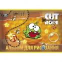 Альбом для рисования 12л,А4,скрепка,Cut the Rope,033625