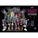Альбом для рисования 20л,А4,скреп,блёст,Monster High,033628