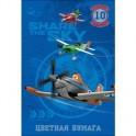 Бумага цветная 10л,10цв,А4,Disney,Самолеты,ассорти 25349