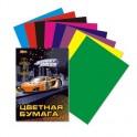 Бумага цветная №1School,Racing car,8л,А4,8цв, 80гр