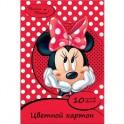 Картон цветной 10л,10цв,А4,Disney,Минни 25383