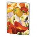 Тетрадь общая 60л,кл,А5,скрепка,Art-Blanc,Fleur