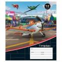 Тетрадь школьная 12л,линейка,А5,Disney,Самолеты,ассорти 23024