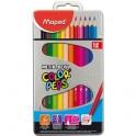 Карандаши цветные 12цв 3-гран Maped мет короб 832014