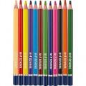 Карандаши цветные 12цв 3-гран №1School Морские друзья Jumbo