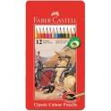 Карандаши цветные 12цв 6-гран Faber-Castell мет короб115844