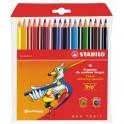 Карандаши цветные 18цв 3-гран Stabilo Trio Jumbo 203/18-03