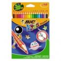 Карандаши цветные 18цв 6-гран BIC Evolution 829728