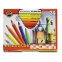 Карандаши цветные 24цв 3-гран Koh-I-Noor 3154N