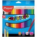 Карандаши цветные 24цв 3-гран Maped 183224