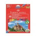 Карандаши цветные 48цв 6-гран точилка Faber-Castell Grip Eco Замок 120148